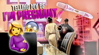 Telling My BoyFriend I'm Pregnant to See How He Would React!