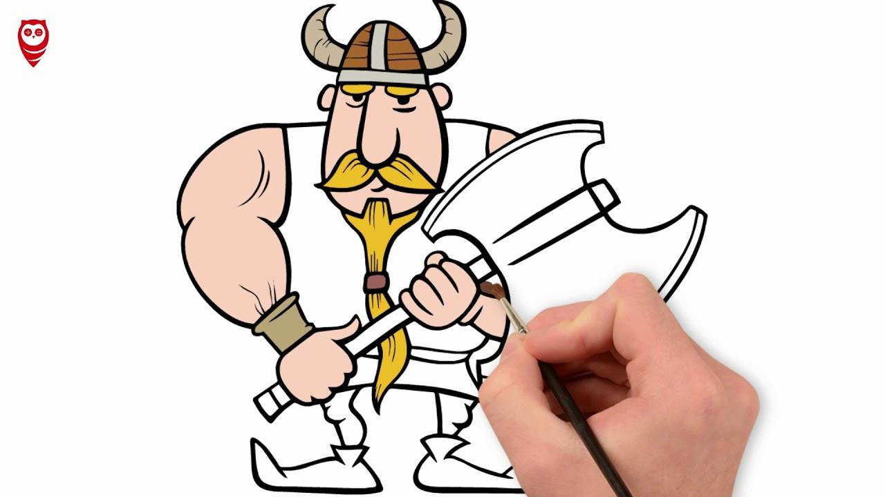 Vikingler Baltali Korsan Cizim Ve Boyama Sayfasi Nasil Yapilir