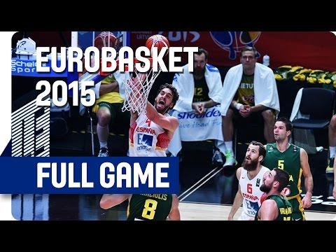 Spain v Lithuania - Final - Full Game - Eurobasket 2015