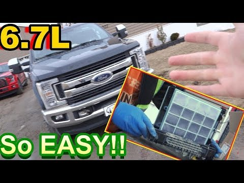 2017 6 7 ford powerstroke fuel filter change (so easy)