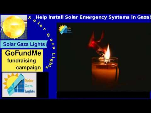 Solar Gaza Lights crowdfunding ( only a test of resolution and fonts)