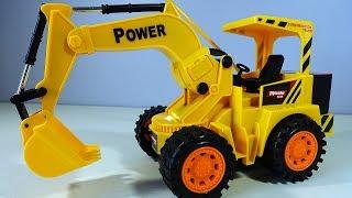 Жёлтый ЭКСАКАВАТОР Mioshi Tech на радиоуправлении Видео для детей Строительная Техника Обзор Игрушки