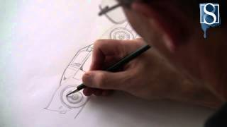 How to Draw a Ford GT step-by-step by Mark Bergin