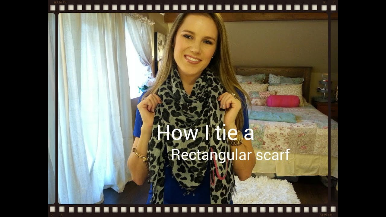 How To Tie A Rectangular Scarf