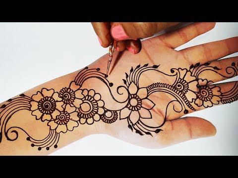 New Mehndi Trick - Latest Full Hand Mehndi Design - शादी, त्योहारों में बनायें आसान मेहँदी