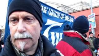 IMF and EU Loan Dublin Protest