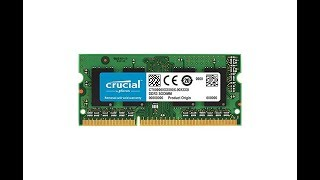 Crucial 4GB DDR3L-1600 SODIMM - UNBOXING