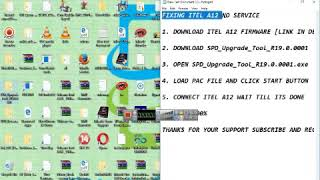 How to fix no service or hang on logo itel A12 without any box