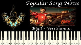 BIGIL - VERITHANAM (HOW TO PLAY) MUSIC NOTES