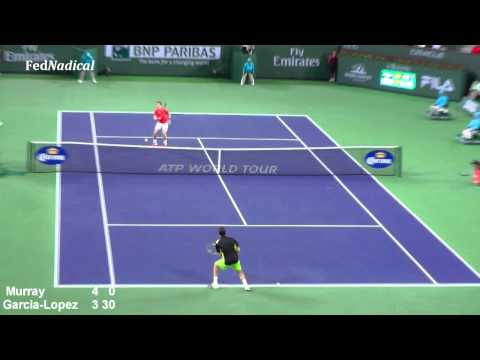 2012 BNP Paribas Indian Wells 2R Guillermo Garcia-Lopez def Andy Murray FULL HIGHLIGHTS HD Part 1/2