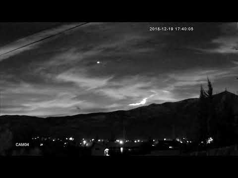 Meteor in Northern California as seen from Reno, NV 2018-12-19