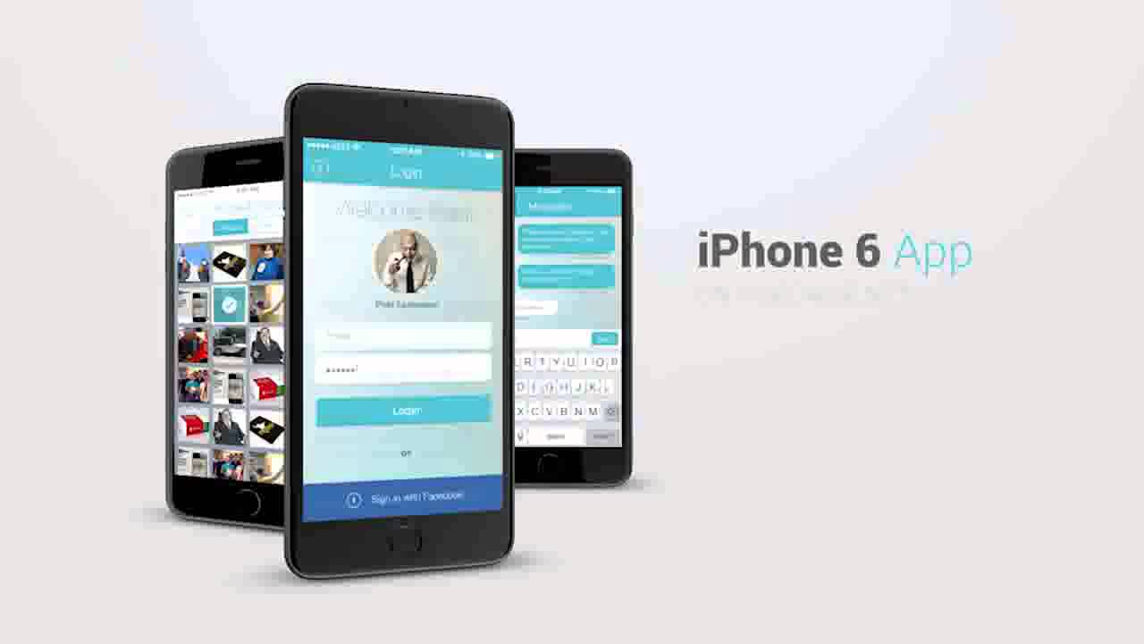 iphone 6 app presentation kit after effects template - youtube, Powerpoint templates
