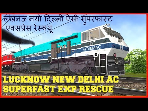Lucknow New Delhi AC Express Rescue with commentary in MSTS Open Rails by Sumit Mehrotra