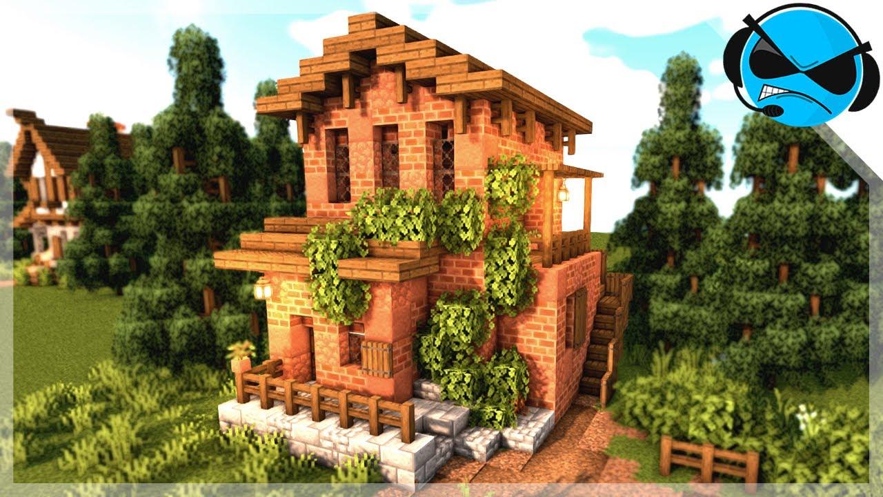 Minecraft: How To Build A Spanish Brick House (Minecraft Build Tutorial)