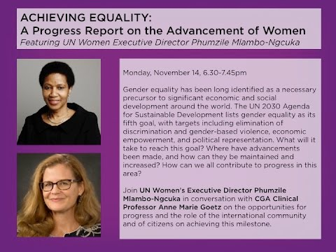 Achieving Equality: A Progress Report on the Advancement of Women