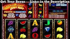 Super Fast Hot Hot Online Slot - BIG WIN - 2018 New USA No Deposit Casino Bonus