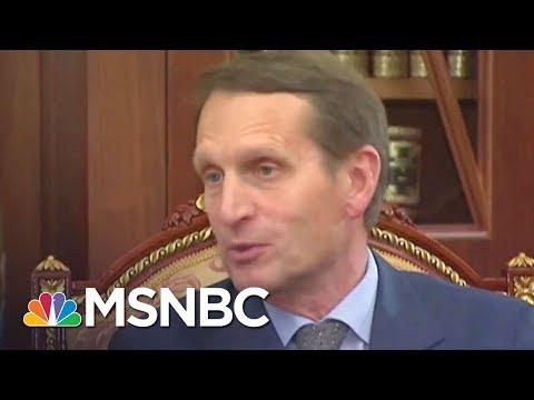 Russia Spy Chiefs Met In U.S. With Donald Trump Officials Last Week | Rachel Maddow | MSNBC