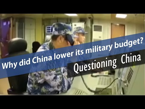 Why did China lower its military budget?