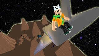 ROBLOX: TRY TO SURVIVE IN THE SPACESHIP FALLING ON THE LOST PLANET! -Play Old man