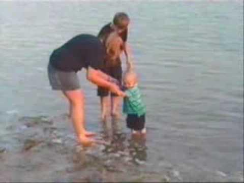 Cameron at the beach