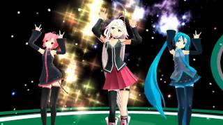 Repeat youtube video 【MMD】Galaxias Ft. Miku,Teto & IA【HD】