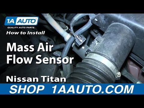 How to Replace Mass Air Flow Sensor 04-15 Nissan Titan