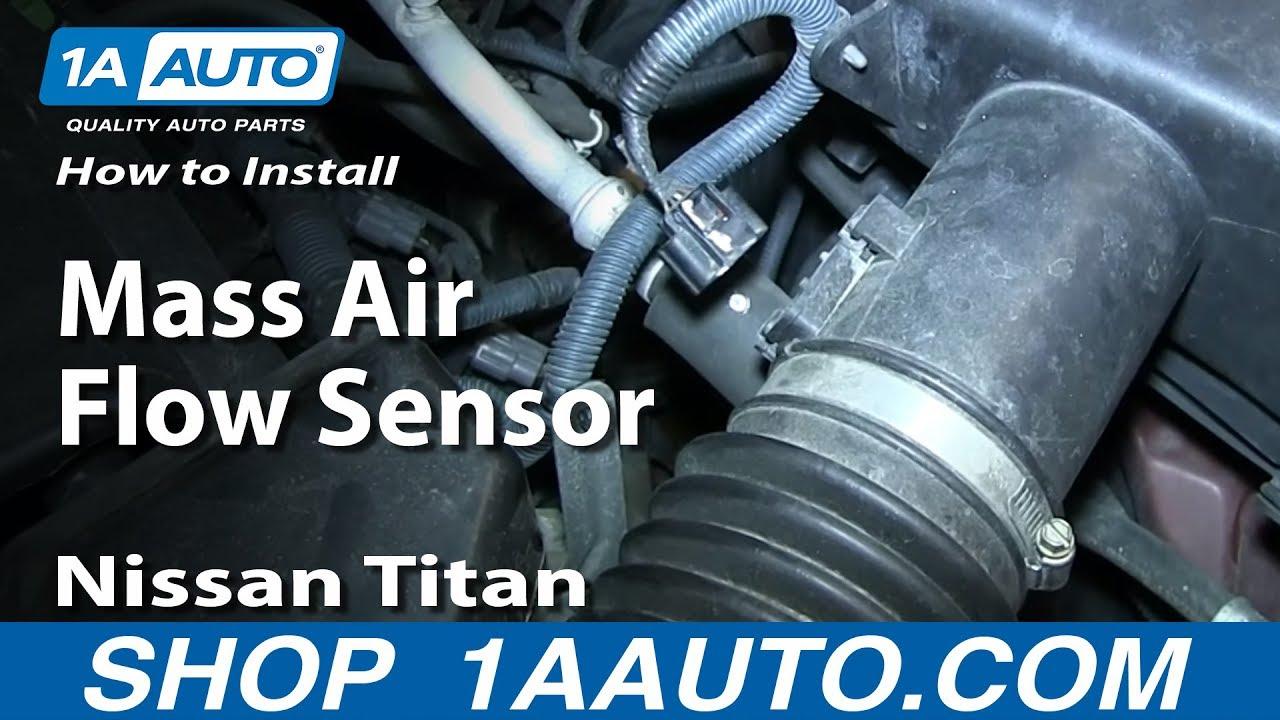 how to replace mass air flow sensor 04 15 nissan titan [ 1280 x 720 Pixel ]