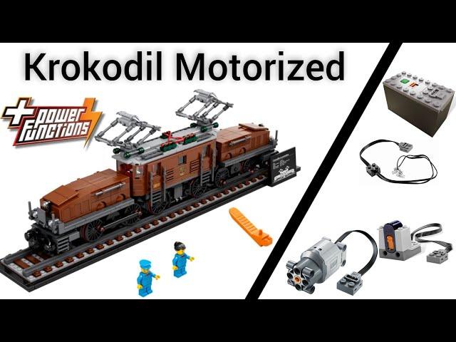 Lego Krokodil (10277) Motorized with Lego power functions