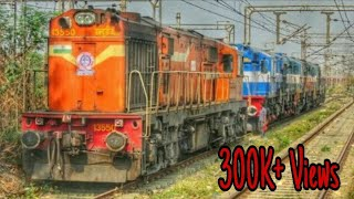 Quadruplets Of Kalyan!!! :  3:1 : WDM3D And WDG3A Moving Light Towards Kalyan Shed With Aggression