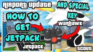 Mad City how to get the Special Keycard and Jetpack Location (Airport Update) Roblox