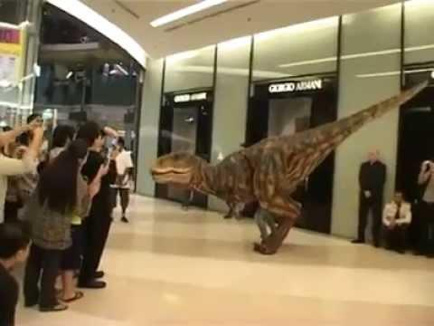 ไดโนเสาร์มาเดินพารากอน!! Dinosaur @ Paragon Thailand