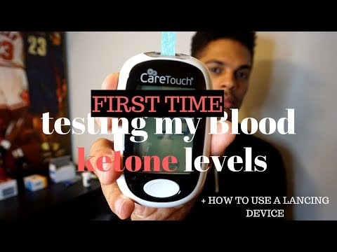 HOW TO TEST BLOOD FOR KETONE LEVELS