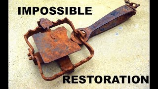 Rusty Antique CLAW TRAP Restoration - Impossible....