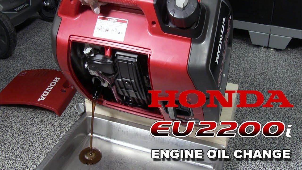 Honda EU2200i Generator Oil Change Procedure