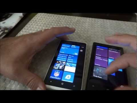 Nokia Lumia 920 vs. Lumia 900 Hardware Demo & Size Comparison