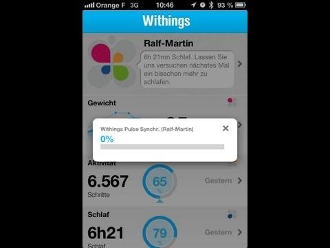 Withings Pulse howto solve sync error (stuck at 0%) secret RESET procedure / hidden menu