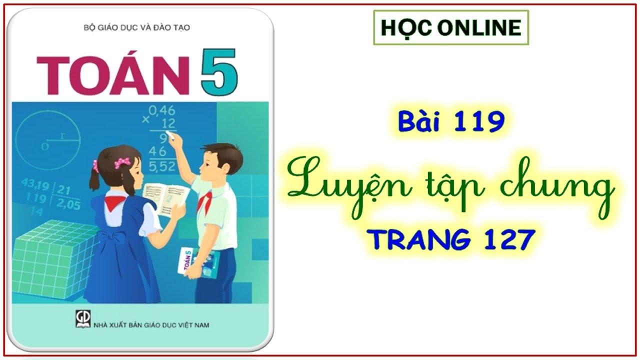 Toán 5: bài 119 luyện tập chung