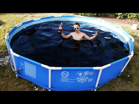 Thumbnail: Taking a Bath in a Giant 1,500 Gallon Coca-Cola Swimming Pool!