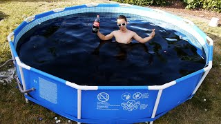 Taking a Bath in a Giant 1,500 Gallon Coca-Cola Swimming Pool!(This was epic! After weeks of buying thousands of Coke bottles and many more hours of opening and pouring, the magnificent Coca-Cola pool was created., 2016-06-24T19:28:49.000Z)