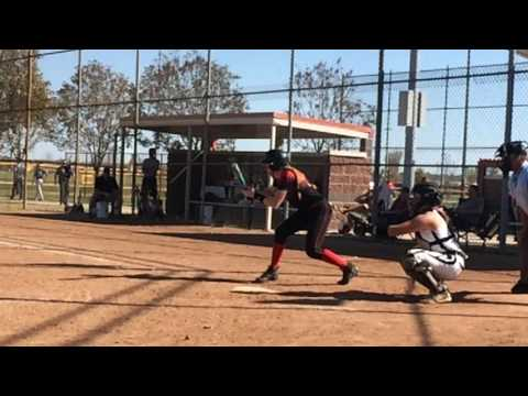 Fake bunt, soft slap with RBI against the Ohio Thunder 16u