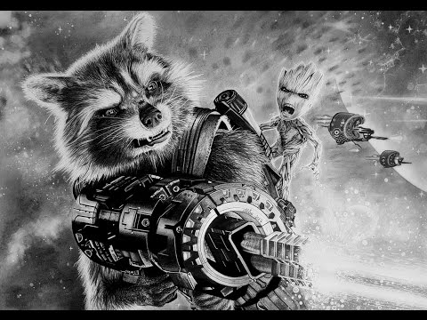 Rocket & Groot ♥ Guardians Of The Galaxy Vol. 2 ♥ Speed Drawing