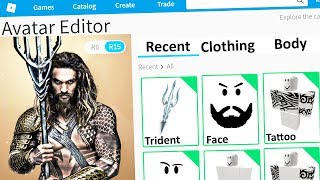 MAKING AQUAMAN a ROBLOX ACCOUNT