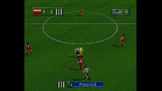 Sega Worldwide Soccer 98 - Sega Saturn- Game play