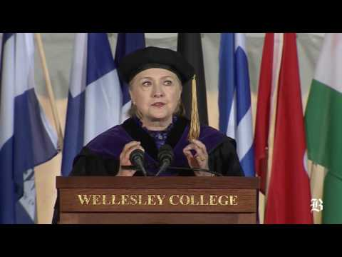 Hillary Clinton gives address at Wellesley today