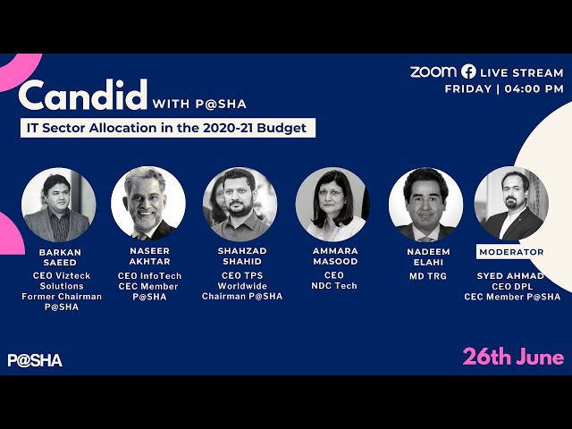 Candid with P@SHA | Ep-6 | IT Sector Allocation in the 2020-21 Budget
