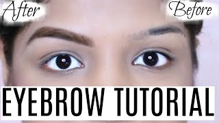 Eyebrow Tutorial - 1 Minutes Eyebrows Routine | SuperPrincessjo