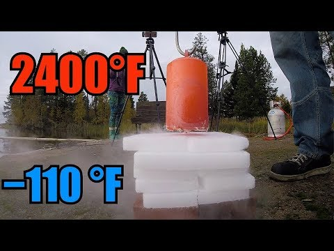 10kg Of Red Hot Steel Vs. 10kg Of Dry Ice!