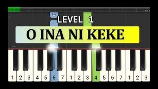 not piano o ina ni keke - tutorial level 1 - lagu daerah nusantara tradisional - sulawesi utara