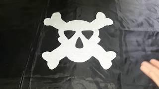 dIY Как легко и просто сделать пиратский флаг! /How to easily and easily make a pirate flag
