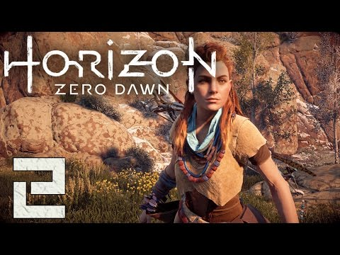 Horizon Zero Dawn Gameplay Walkthrough - Part 2 - Into the Embrace, Tracking the Blood [PS4 Pro]